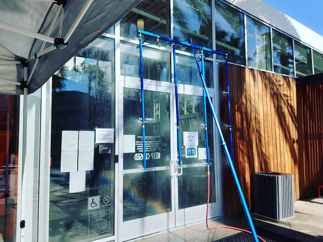 storefront windows going through water testing performed by PIW
