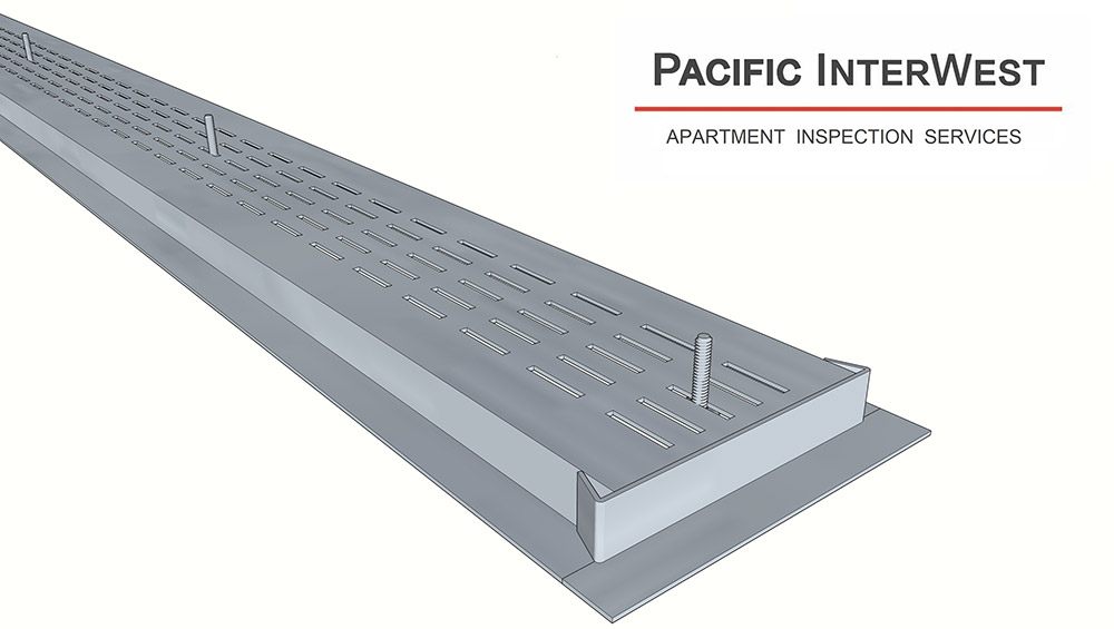 rendering of removable strip vent