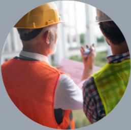 2 inspectors observing a jobsite, Pacific InterWest